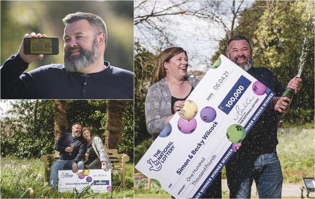 Mr Wilcock plans to put the winnings towards a new family home (Photo: SWNS)