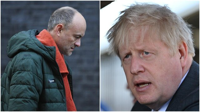 The 'sleaze' claims come amid a public fallout between Boris Johnson and his former top adviser Dominic Cummings (Getty Images)