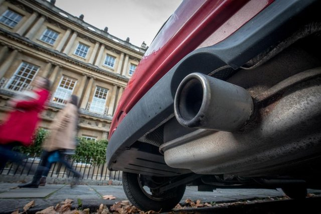 From April, drivers in Bath (pictured) and Birmingham will have to pay up to £8 per day to use their vehicle in the city centre (Photo by Matt Cardy/Getty Images)