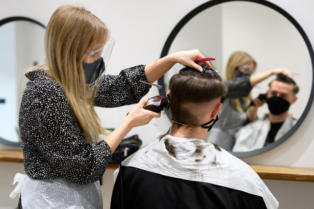Hairdressers are set to reopen in England from 12 April (Getty Images)