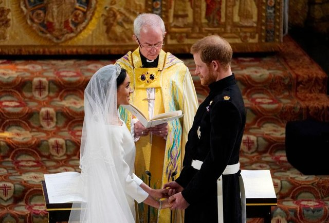Justin Welby has contradicted the Duke and Duchess of Sussex's claim that they were married prior to the royal wedding (Getty Images)