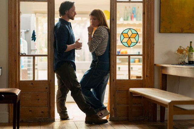 Sharon Horgan and James McAvoy in Together (C) Arty Films Ltd - Photographer: Peter Mountain