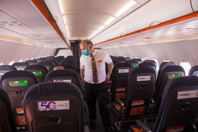Passengers on a flight between Manchester and Albufeira were supposedly not wearing masks. [Image is not from specified flight] (Getty Images)