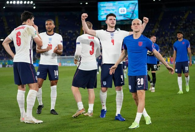 Phil Foden, right, didn't feature in the quarter-final win against Ukraine.