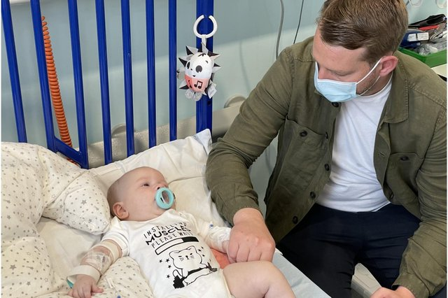 Arthur Morgan received the one-off gene therapy at Evelina London Children's Hospital on 25 May (Photo: NHS England)