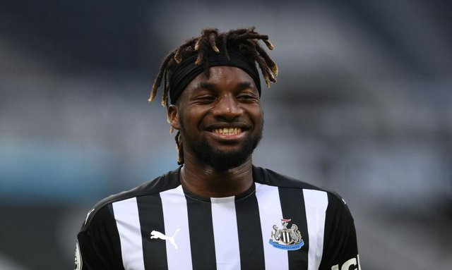 Newcastle United star Allan Saint-Maximin has dropped a big hint over his future. (Photo by Stu Forster/Getty Images)
