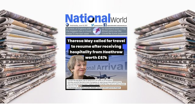 Theresa May calls for aviation restrictions to be lifted, she received £67k of services from Heathrow's VIP suites in from 2019-2020