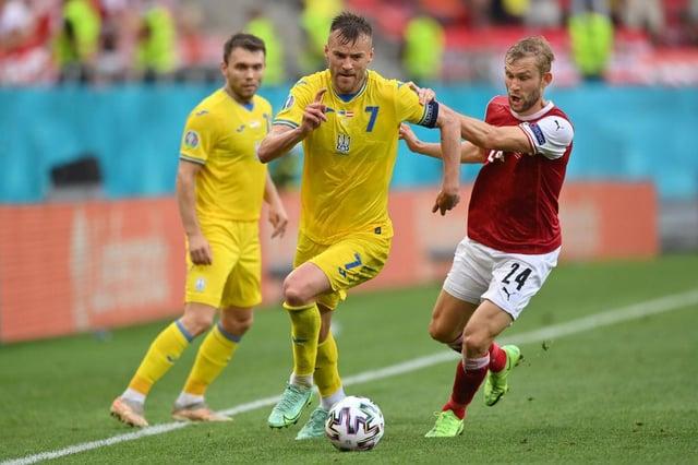 Andriy Yarmolenko of Ukraine. (Photo by Justin Setterfield/Getty Images)