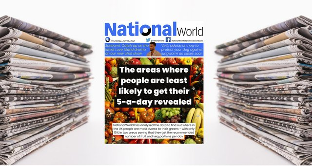 Revealed: Which parts of the country aren't getting their five a day - NationalWorld's digital front page (Photo: NationalWorld)