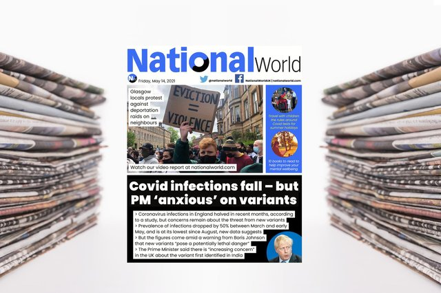 The digital front page of NationalWorld for 14 May (Image: NationalWorld)