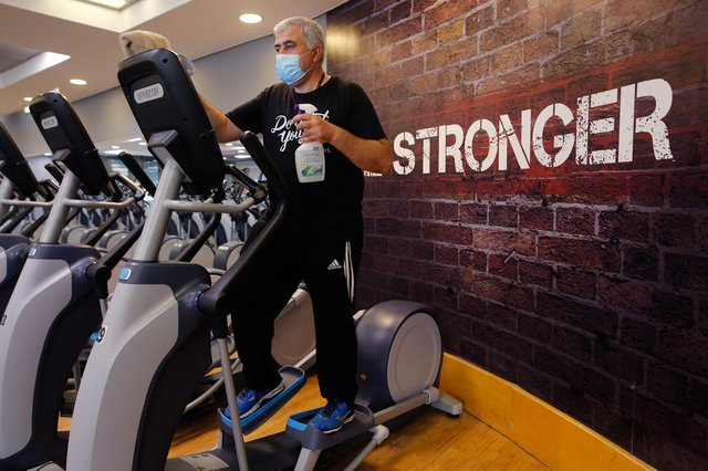 Gyms and fitness facilities could reopen in mid-April, but Covid-related rules could remain in place (Picture: Shutterstock)
