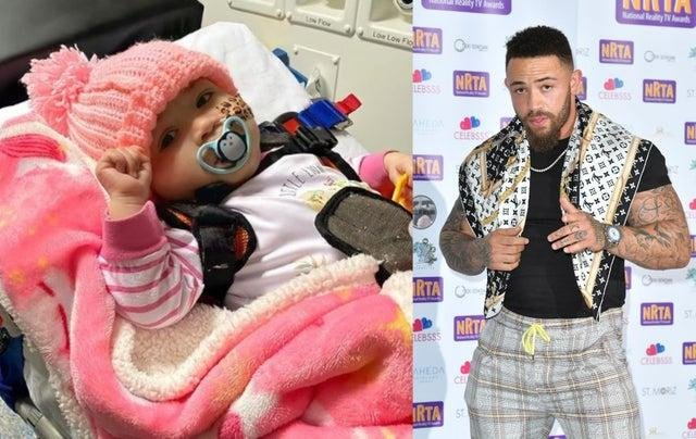 Reality TV personality Ashley Cain shared the heartbreaking tribute to his eight-month-old daughter Azaylia on Instagram (Instagram/Getty)