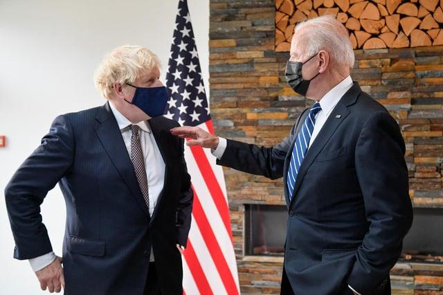 Boris Johnson met Joe Biden in Carbis Bay in Cornwall on Thursday before the G7 Summit (PA Media)