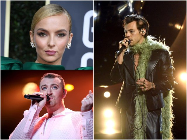A host of famous faces vhave been nominated for the British LGBT Awards 2021 (Photo: VALERIE MACON/AFP via Getty Images; Kevin Winter/Getty Images for The Recording Academy; Rich Fury/Getty Images for iHeartMedia)