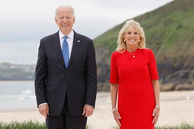 President Joe Biden First Lady Jill Biden at the G7 Summit in Carbis Bay, Cornwall (Getty Images)
