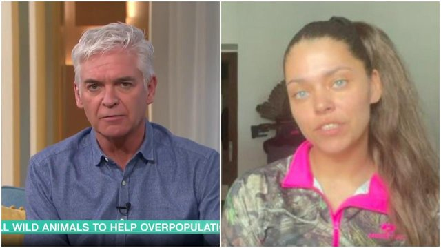 Phillip Schofield spoke sarcastically when asking Michaela about her job as an animal conservationist on This Morning (ITV)