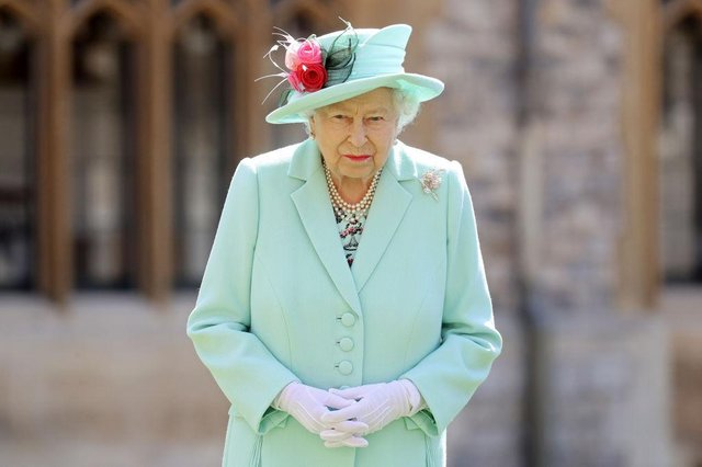 Britain's Queen Elizabeth II at her Birthday Honours ceremony in 2020(Getty Images)