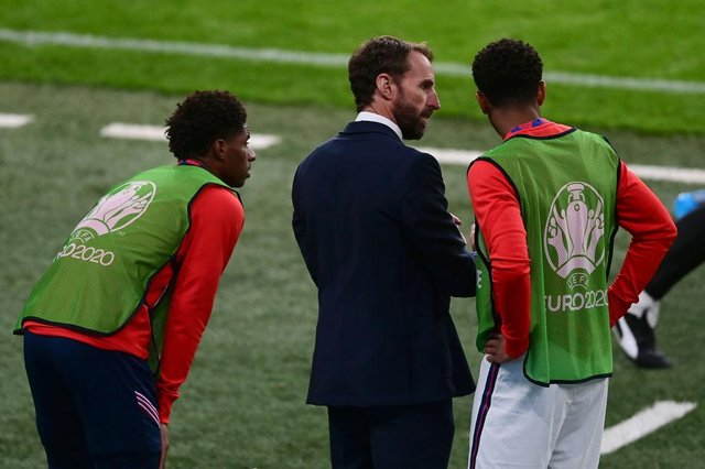 Gareth Southgate, Head Coach of England. (Photo by Neil Hall - Pool/Getty Images)