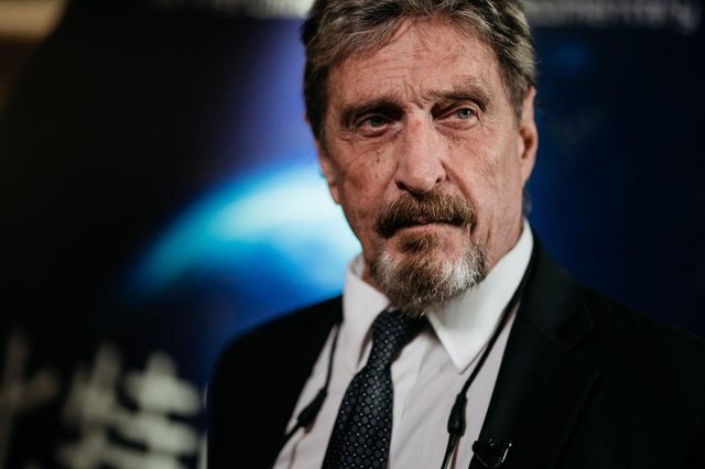 John McAfee was found dead hours after his extradition to the US had been approved (Getty Images)