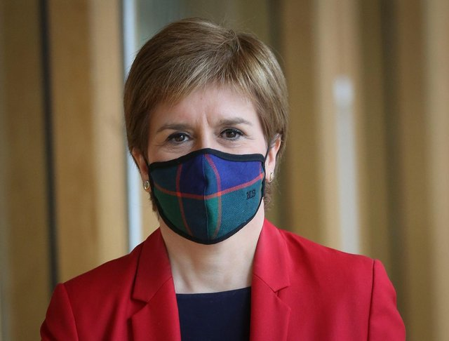 Nicola Sturgeon is expected to address the surge in cases in some particular areas of Scotland, including Glasgow, Clackmannanshire and East Renfrewshire (Getty Images)