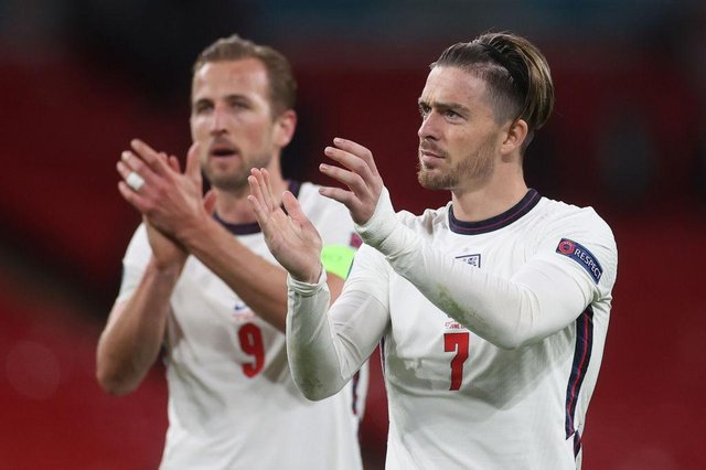 Jack Grealish and Harry Kane. (Photo by Carl Recine - Pool/Getty Images)