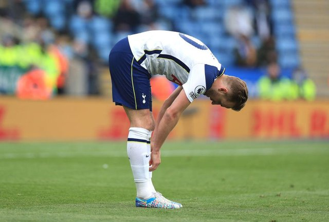 Harry Kane of Tottenham Hotspur. (Photo by Mike Egerton - Pool/Getty Images)