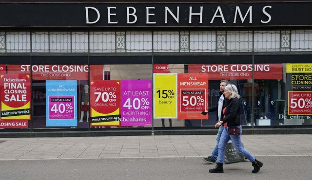 Debenhams announces full list of stores reopening in England and Wales for 'incredible' closing down sale - with up to 70% off  (Photo by ADRIAN DENNIS/AFP via Getty Images)