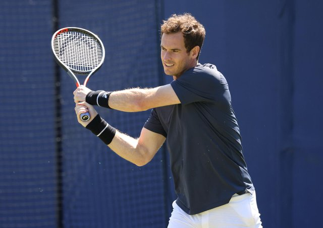 Andy Murray will make a long-awaited return to competitive tennis action at the Queen's Club after three months sidelined through injury. (Pic: Getty)