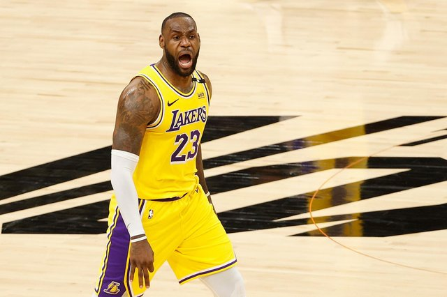 NBA star LeBron James in action for the Los Angeles Lakers. (Pic: Getty Images)