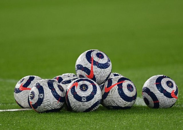 Premier League match ball. (Photo by Shaun Botterill/Getty Images)