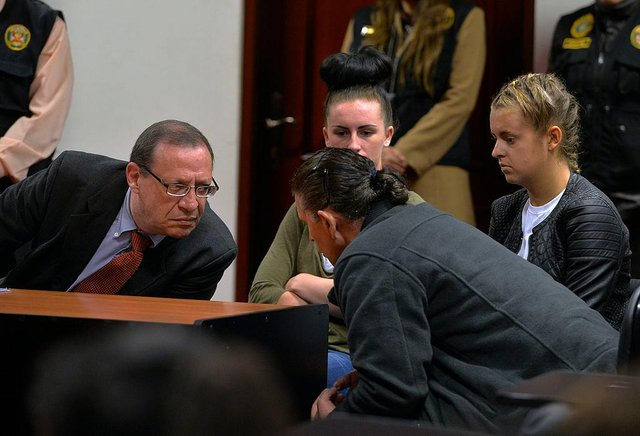 The pair were sentenced to nearly seven years in a Peruvian jail (Picture: Getty Images)