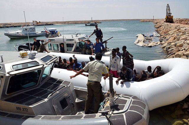 The boat sank off the coast of Tunisia, the country's El-Kitif port in the Tunisian town of Ben Guerdane in only  40 kilometres west of the Libyan border. This picture shows former migrants travelling by boat in 2015. (Picture: Getty Images)
