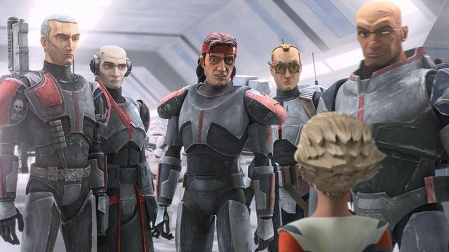 The new series centres around a squad of genetically-enhanced troopers named Clone Force 99 (Lucasfilm)