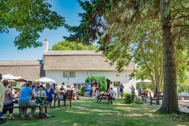 Brits will be flocking to beer gardens during the May bank holidays as they are set to reopen during England's next stage of lockdown easing (Shutterstock)
