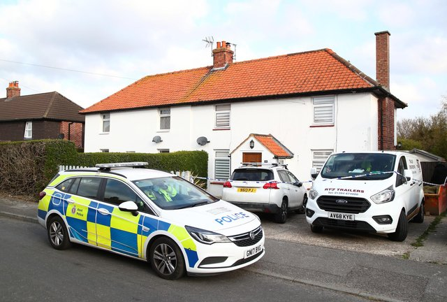 A police care guards the home of PCSO Julia James after the discovery of her body nearby (Photo: Gareth Fuller/PA Wire/PA Images)