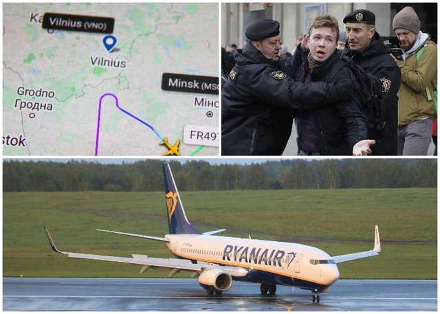 Dominic Raab has not ruled out Russian involvement in the hijacking of a Ryanair plane (Getty, PA)