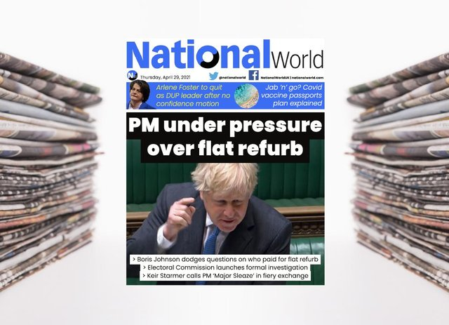 The digital front page of NationalWorld for 29 April