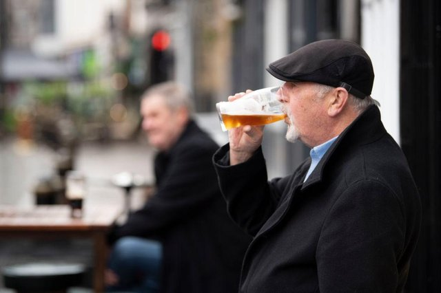 As lockdown restrictions surrounding outdoor hospitality eases, pub-goers will need to wrap up warm (Photo: Matthew Horwood/Getty Images)