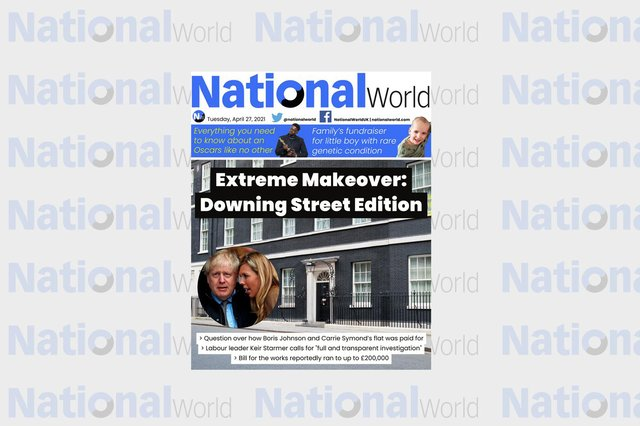 The digital front page of NationalWorld for 27 April