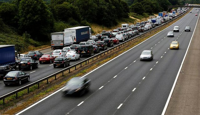 Saturday is likely to be the busiest day on the roads, with 2.6 million leisure journeys expected (Photo: ADRIAN DENNIS/AFP via Getty Images)
