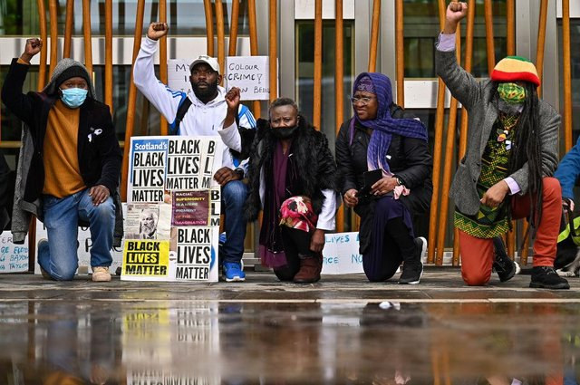 George Floyd anniversary: all the UK BLM protests and marches taking place to mark his death one year on (Photo by Jeff J Mitchell/Getty Images)
