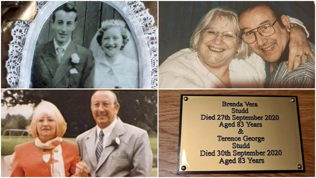 A devoted couple died within 72 hours of each other after never spending a single day apart - in their 68 year marriage (SWNS)