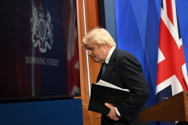 Boris Johnson teased plans for the reopening of international travel at a press briefing (Getty Images)