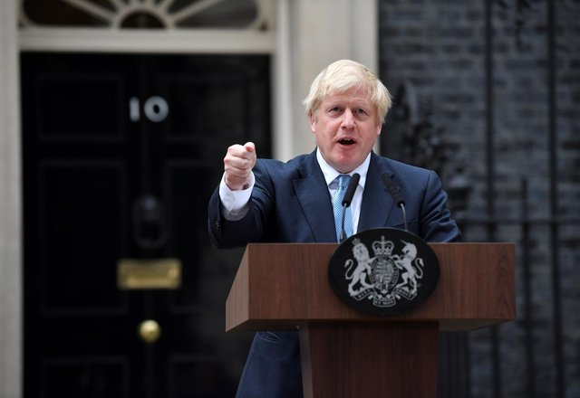 Britain's prime minister Boris Johnson has an 'unsatisfied' county court judgment for £535 (Ben Stansill/AFP via Getty Images)