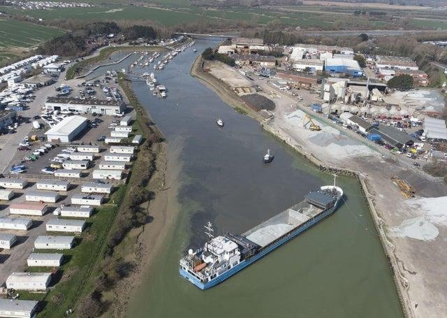 The Elise is currently stuck in Littlehampton Harbour (Eddie Mitchell)