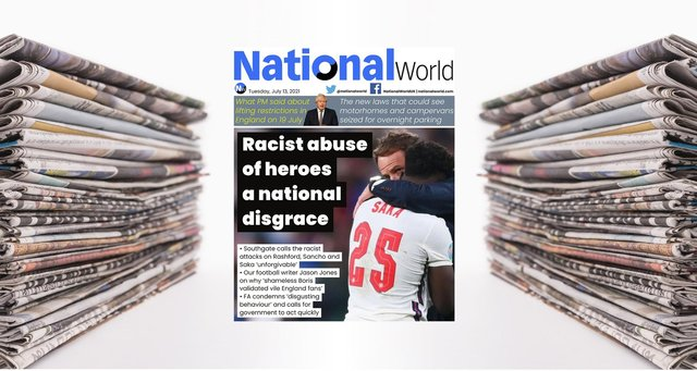 Racist abuse of heroes a national disgrace - NationalWorld digital front page