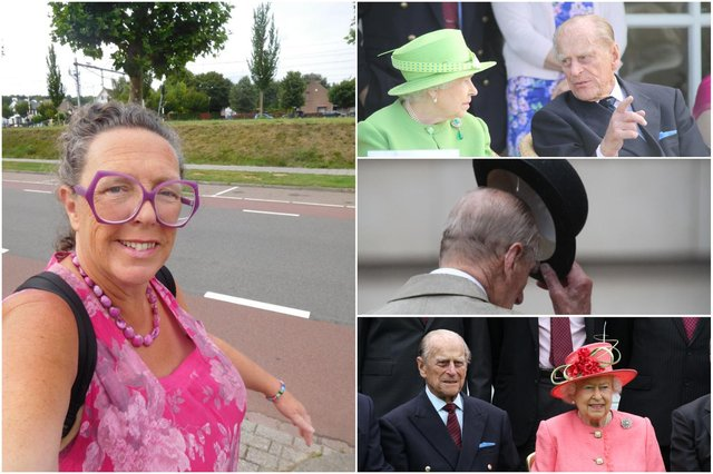 Julia McCarthy-Fox and some of her photos of Prince Philip with the Queen
