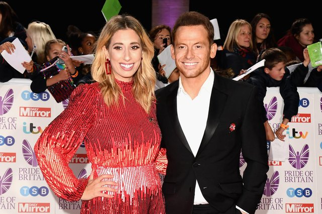 Mum-of-three and Loose Woman Stacey Solomon pictured with fiancée Joe Swash (Getty Images)