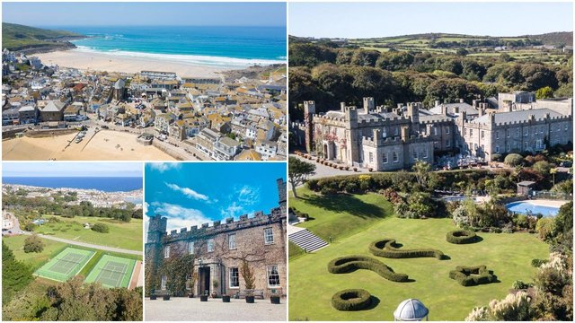 G7 world leaders will be staying at the grand Tregenna Castle Hotel during the summit, which has views over St Ives (Credit: Facebook/Tregenna Castle Hotel/Shutterstock)