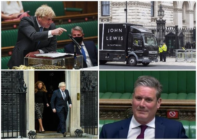 Boris Johnson and Carrie Symonds may have to hand over personal phone and email messages to the inquiry (Getty Images)